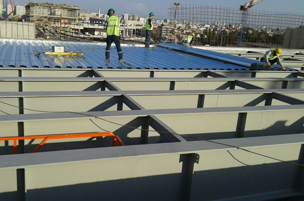 All Structural Steel Construction Works In Shopping Mall